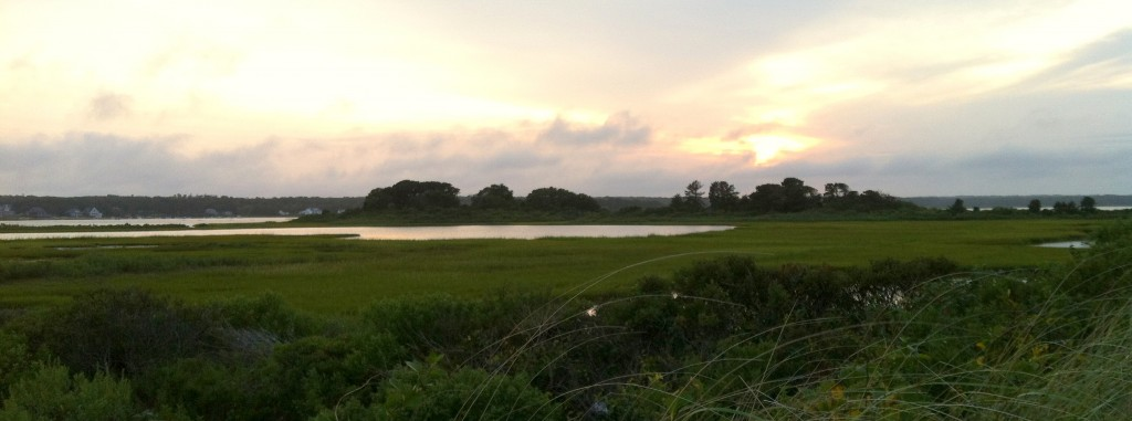 Twilight at Sengekontacket Pond in Edgartown.
