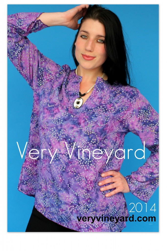 "Very Vineyard's Kaftan in out Batik Print ""Ditty"". This is a great style to wear with leggings or your favorite pair of jeans."