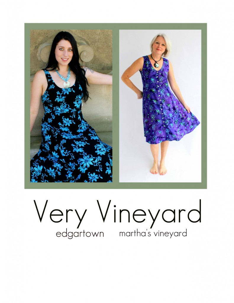 Two of Very Vineyard's most popular summer sundresses, the June dress and the Dress Italia. Stay cool and feel pretty in our summer classics.