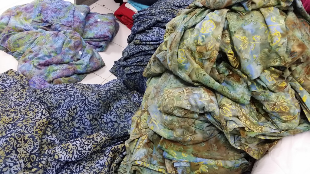 The final product arrives in our factory to be inspected and made into Very Vineyard Dresses and outfits. Aren't we lucky to be able to wear this artwork?
