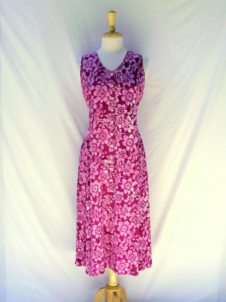 Long Dress Italia in Hawaiian Rose