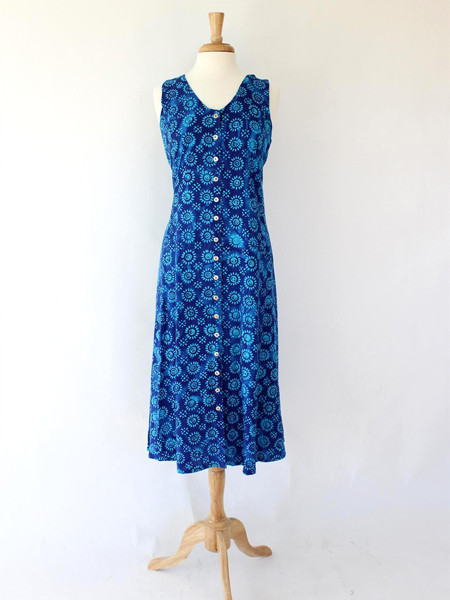 Long Dress Italia in Blue Sunkissed