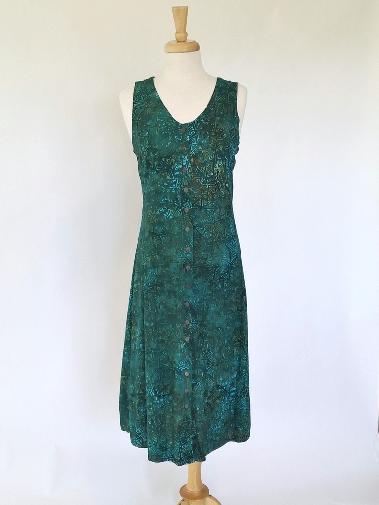 Long Dress Italia in Green Pyramid