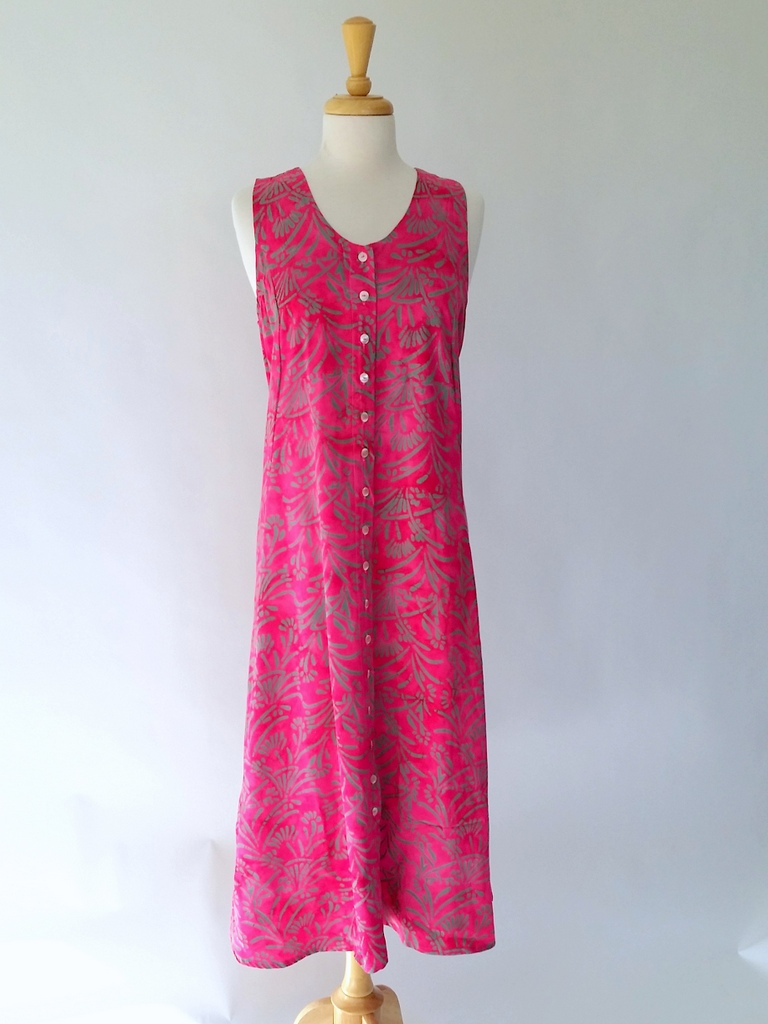 Long Dress Italia in Fuscia Reed