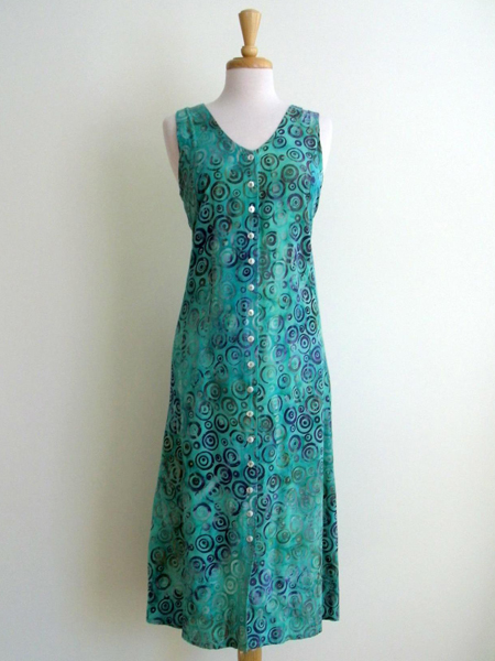 Long Dress Italia in Mint Infinity