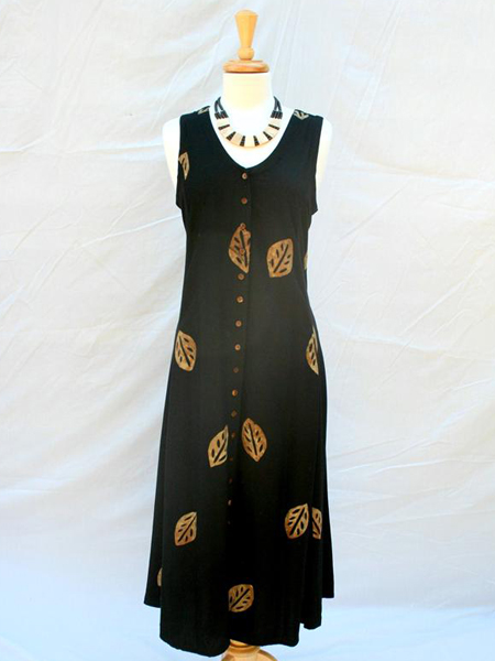 Long Dress Italia in Brown Leaf