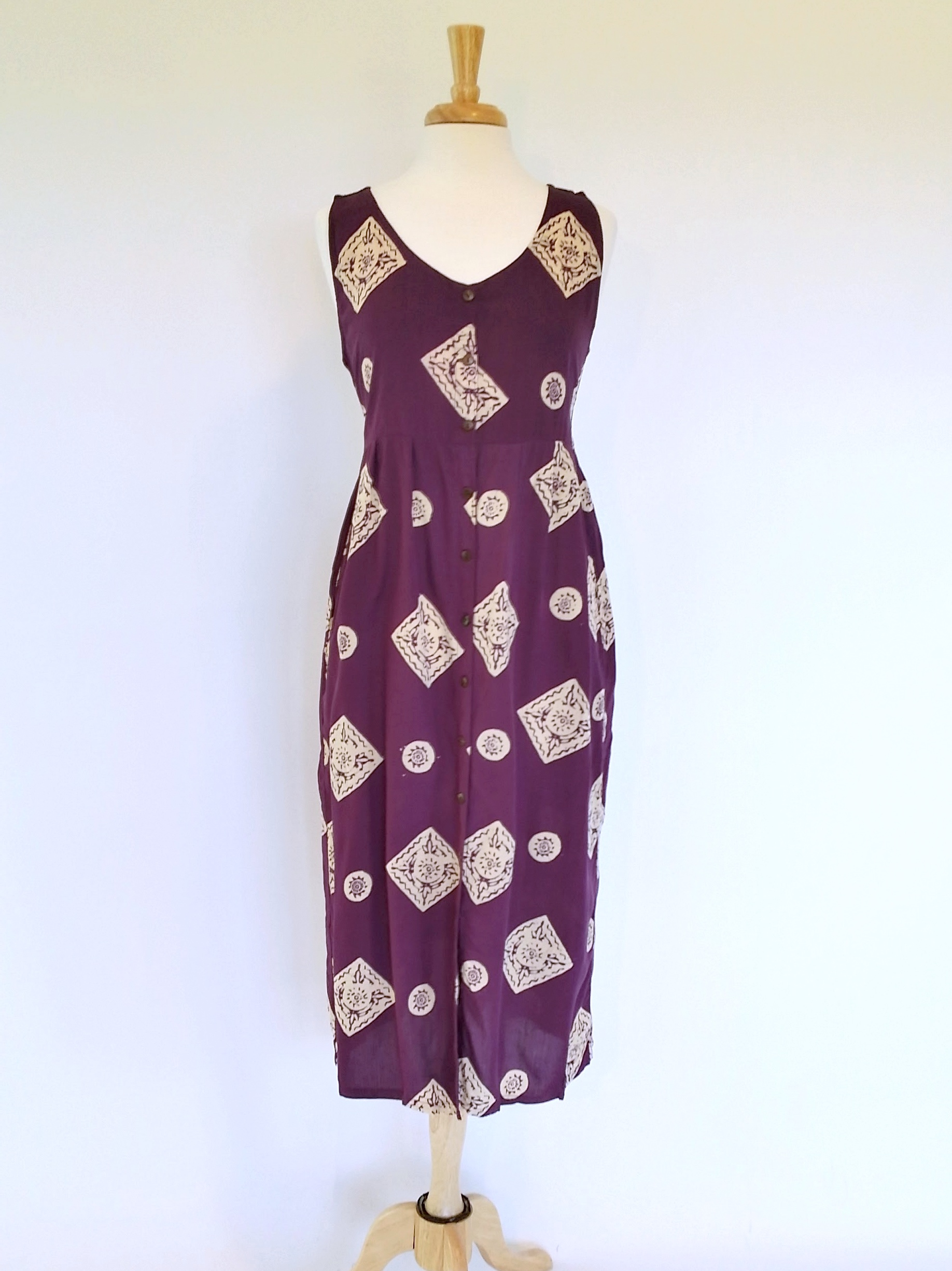 Elle Dress in Plum Medallions