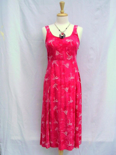June Dress in Pink Dragonfly