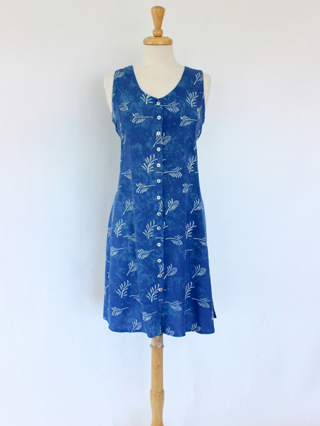 Short Dress Italia in Blue Feather