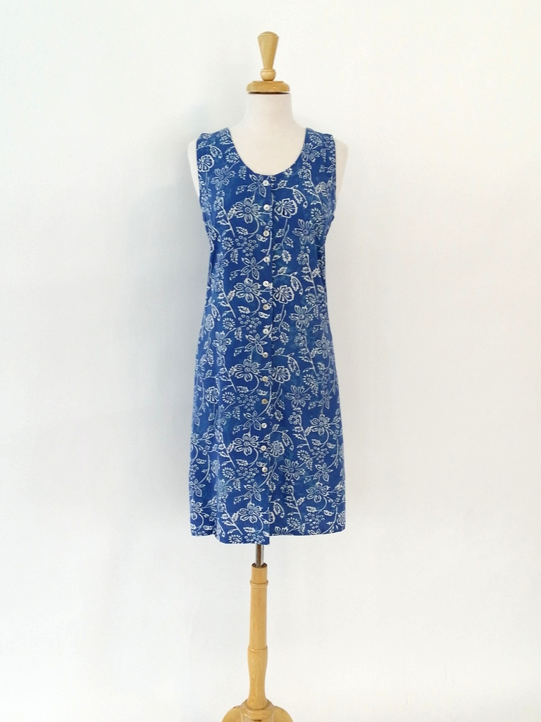 Short Dress Italia In Periwinkle Flower