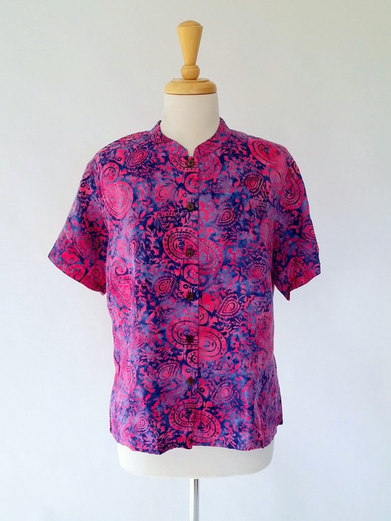 Harmony Top in Dark Pink Paisley