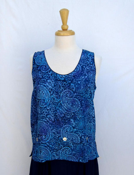 Lyla Top in Blue Paisley