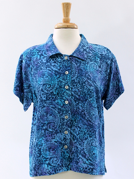 Jo Top in Blue Paisley