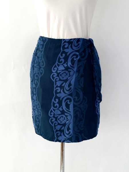 Jane Skirt in Blue Sumba