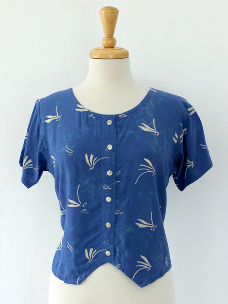 Diana Top in Cornflower Dragonfly