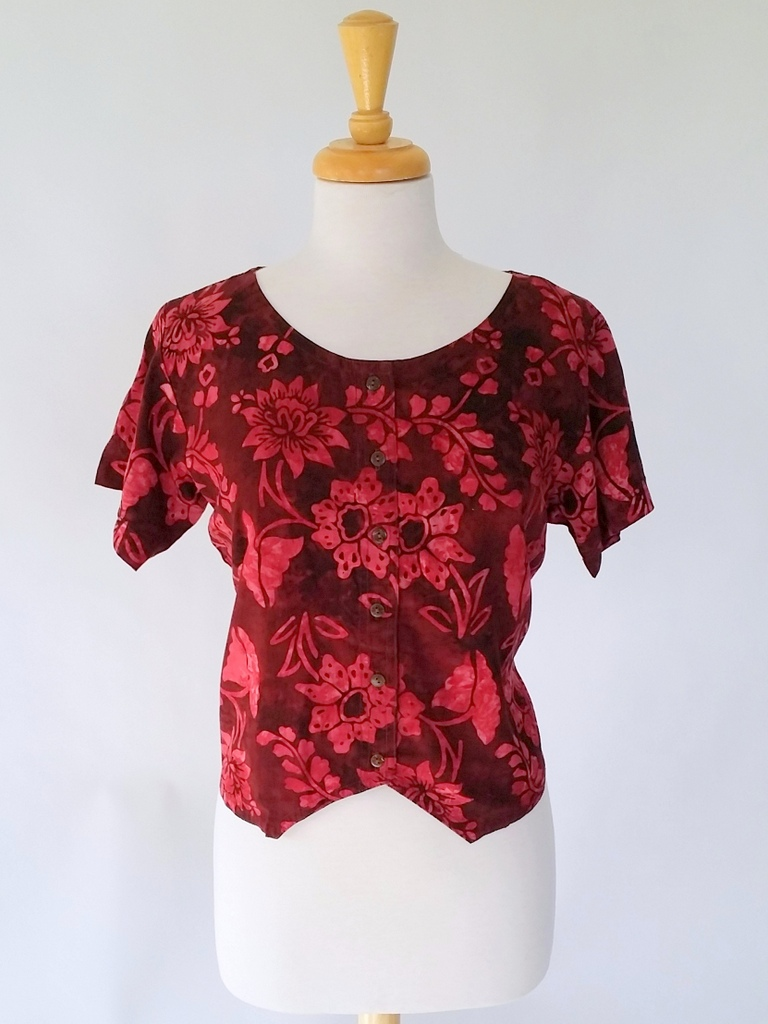 Diana Top in Claret Waterlilly