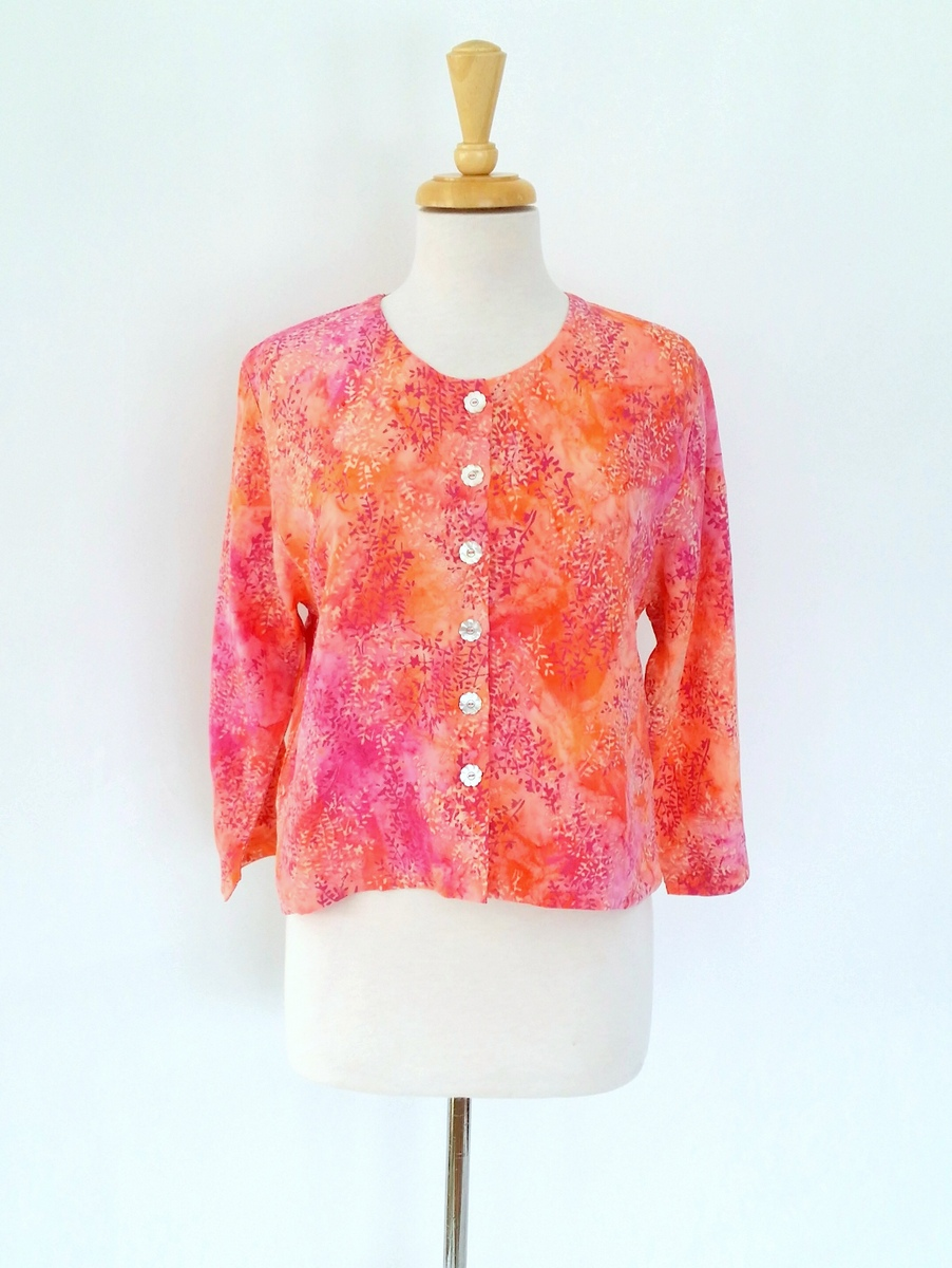 Simple Jacket in Coral Spray