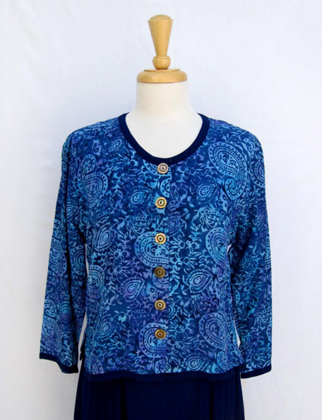 Simple Jacket Combo in Blue Paisley