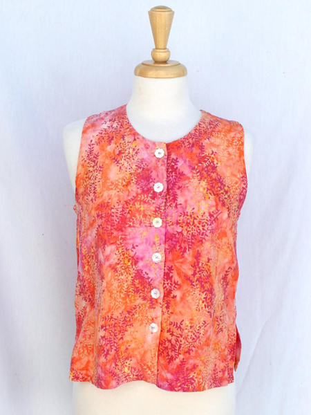 Patch Vest in Coral Spray