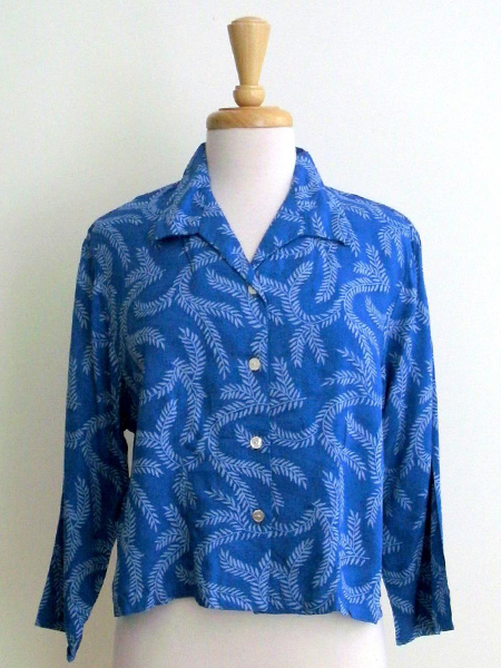 Retro Jacket in Blue Seagrass