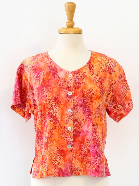 Victoria Blouse in Coral Spray