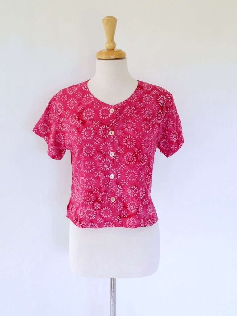 Victoria Blouse in Pink Sunkissed