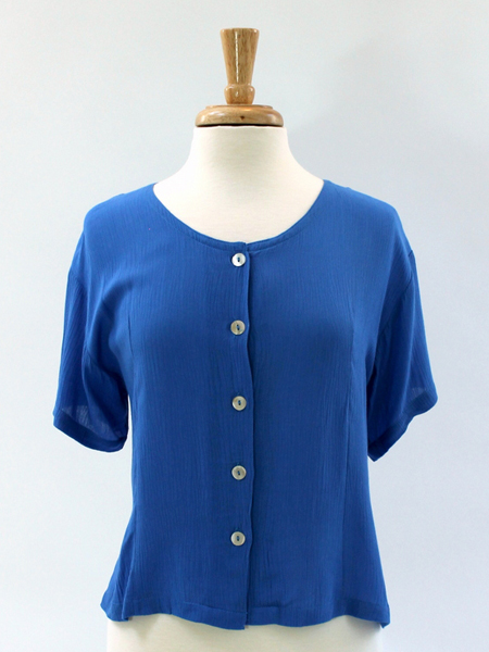 Victoria Blouse in Blue 4