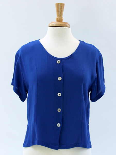 Victoria Blouse in Blue 2