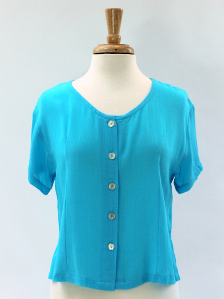 Victoria Blouse in Turquoise 6