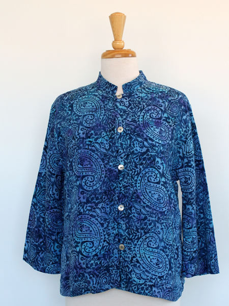 Allure Jacket in Blue Paisley