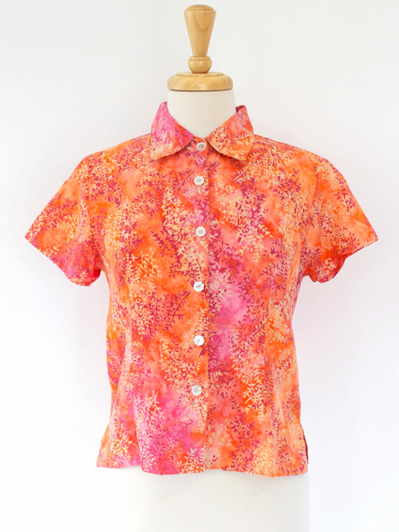 Lily Top in Coral Spray