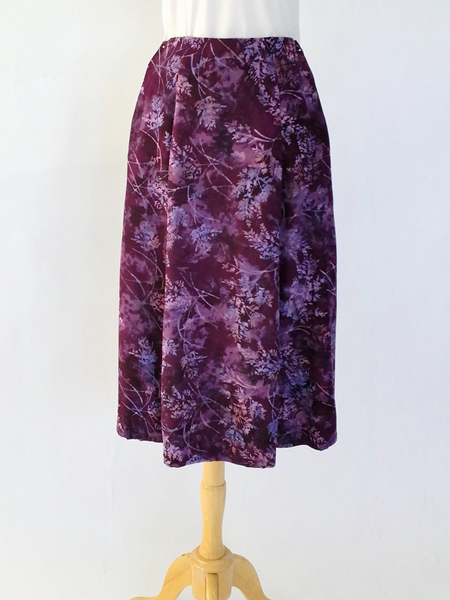Long Flair Skirt in Majestic Glee