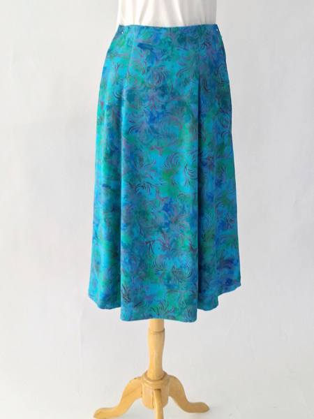 Long Flair Skirt in Whirlwind