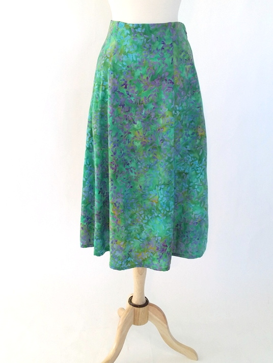 Long Flair Skirt in Serenity
