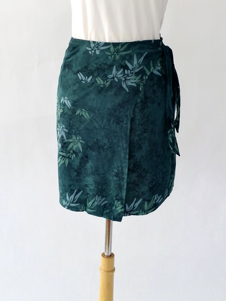 Jane Skirt in Teal Leaf