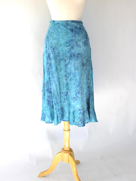 Cassie Skirt in Blue Ebb and Tide