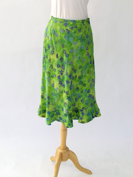 Cassie Skirt in Lime Magic