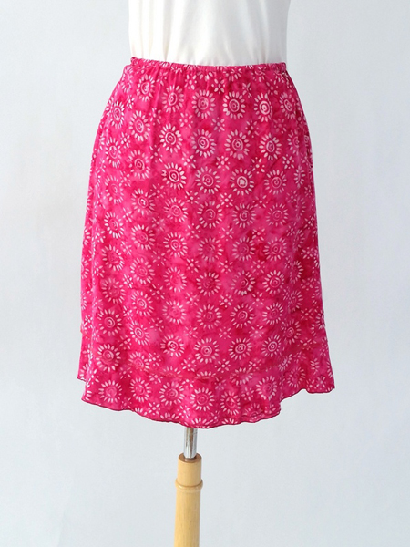 Short Ruffle Skirt in Pink Sunkissed