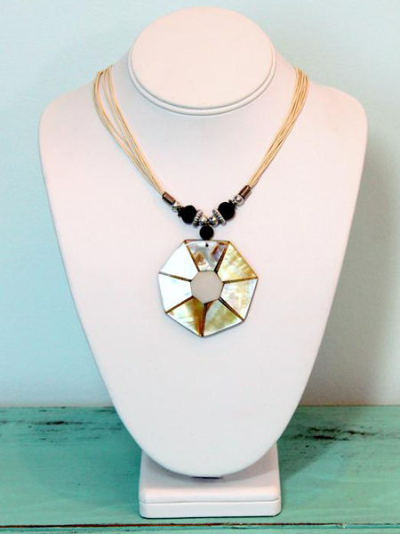 Shell Hexagon Necklace