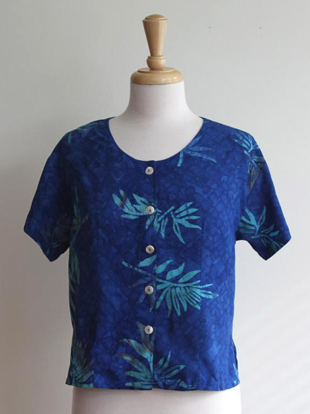Victoria Blouse in Tropical Night