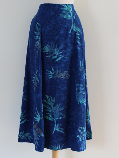 Long Flair Skirt in Tropical Night