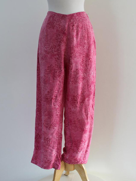 Beach Pant in Pink Mums