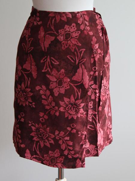 Jane Skirt in Claret Waterlilly