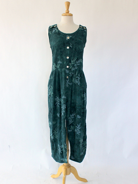 Jumpsuit Anna in Teal Leaf