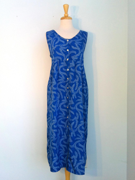 Elle Dress in Blue Seagrass