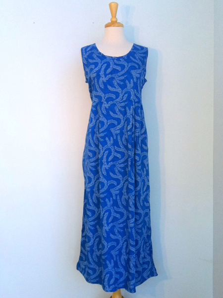 Jo Dress in Blue Seagrass