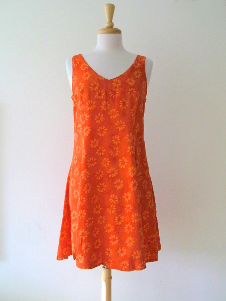 Allie Dress in Orange Daisy