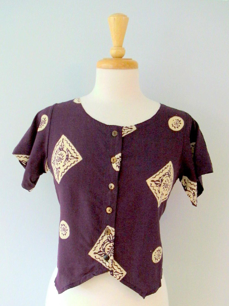 Diana Top in Plum Medallions