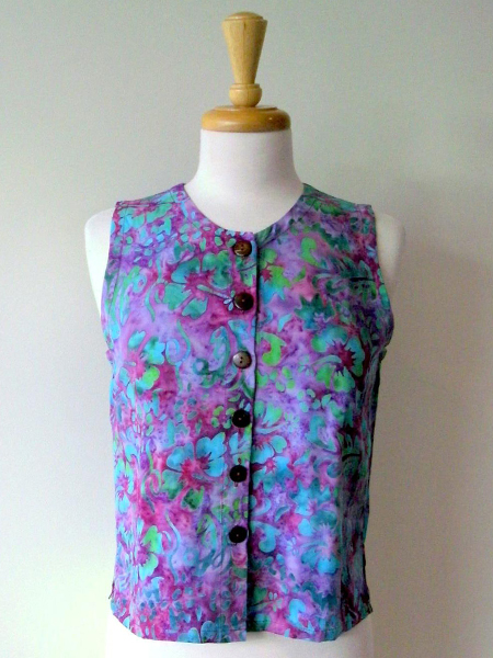Patch Vest in Tropical Flower