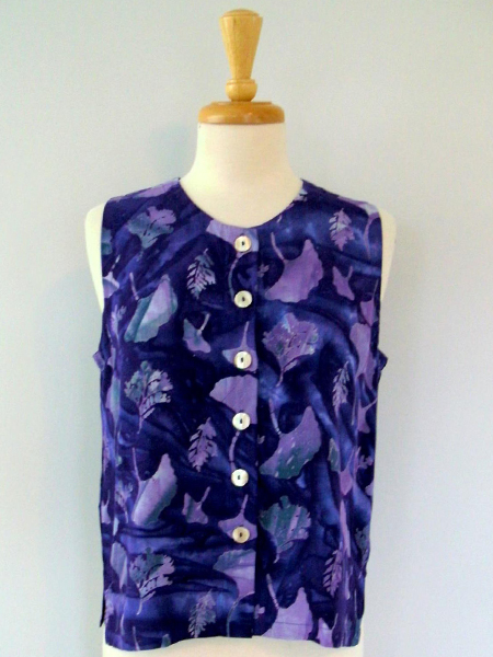 Patch Vest in Spectacular Gingko